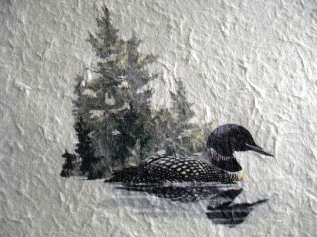 watercolor of a loon