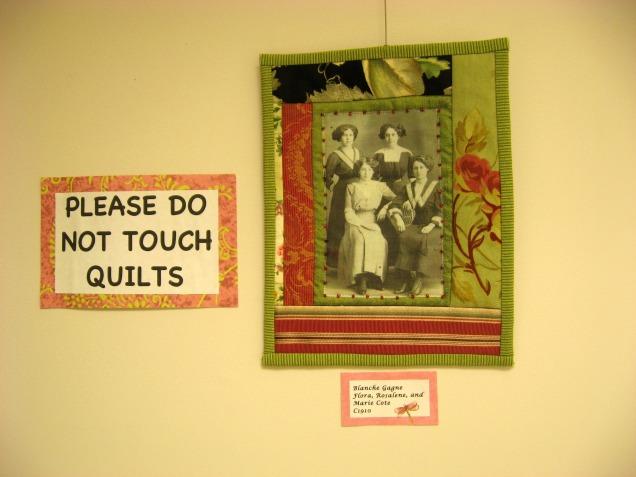 collage quilt piece