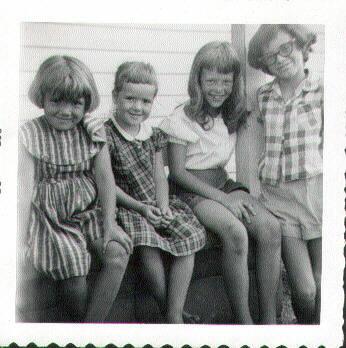 Cindy, Karen, Ginger, Susan Martin in 1950s