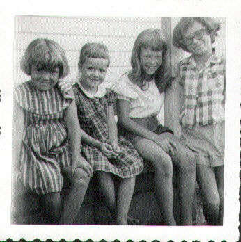 Cindy, Karen, Ginger, Susan Martin in 1950s