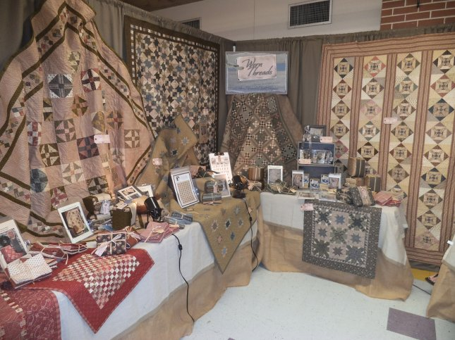 The Worn Threads display at the Davenport, Florida quilt show.