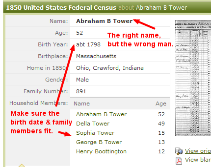 1850 United States Federal Census - wrong abraham bates