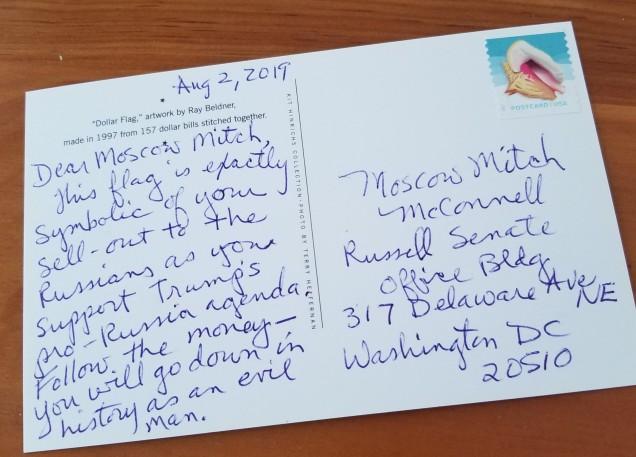 Moscow mitch postcard