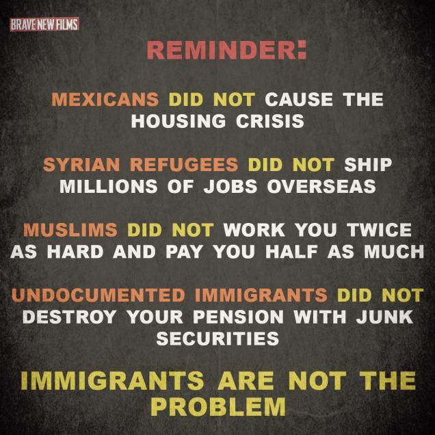 immigrants not the problem