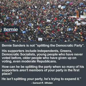 bernie brings new voters independents, non voters to democrats